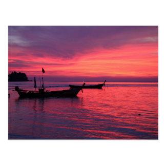 Sunset at Nai Yang Beach, Phuket, Thailand Postcard
