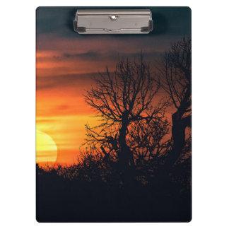 Sunset at Nature Landscape Clipboard