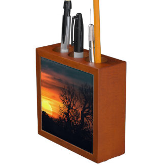 Sunset at Nature Landscape Desk Organiser