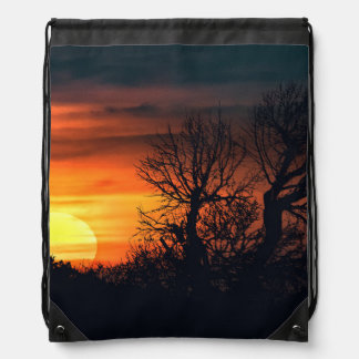 Sunset at Nature Landscape Drawstring Bag