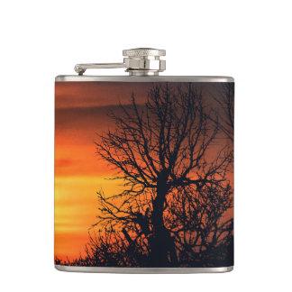 Sunset at Nature Landscape Hip Flask