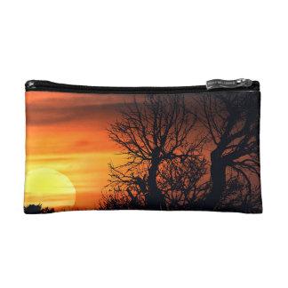 Sunset at Nature Landscape Makeup Bags