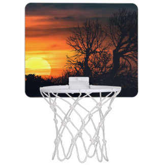 Sunset at Nature Landscape Mini Basketball Hoop