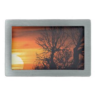 Sunset at Nature Landscape Scene Belt Buckles