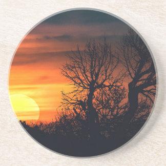 Sunset at Nature Landscape Scene Coaster