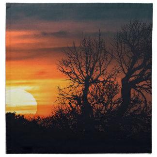Sunset at Nature Landscape Scene Napkin