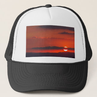 sunset at night trucker hat