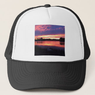 Sunset at Notre Dame Trucker Hat