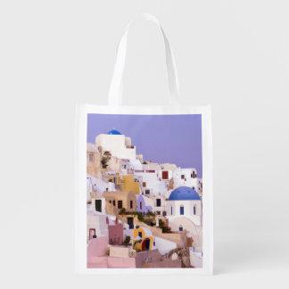 Sunset at Oil, Santorini 2 Reusable Grocery Bag