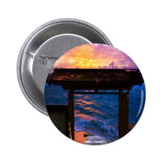 Sunset at Paradise Bay 6 Cm Round Badge