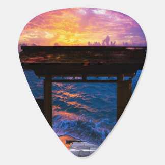 Sunset at Paradise Bay Guitar Pick