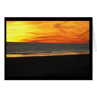 Sunset at Pine Knoll Shores, NC Card