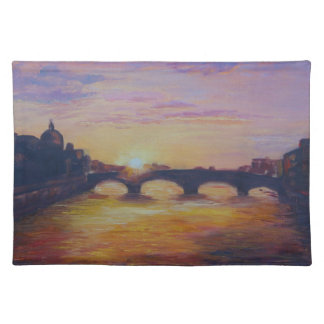 Sunset at Ponte Vecchio Placemat