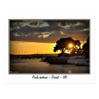 Sunset at Poole harbour - Dorset - Uk Postcard