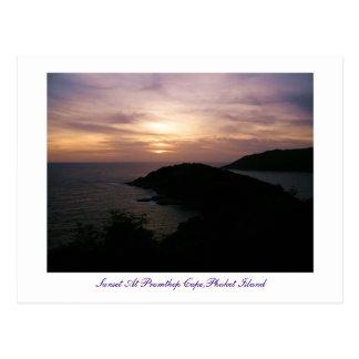 Sunset At Promthep Cape,Phuket Island Postcard