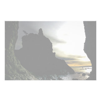 Sunset at Rialto Beach Olympic National Park Stationery Paper