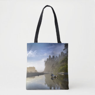 Sunset at Ruby Beach, Olympic National Park Tote Bag