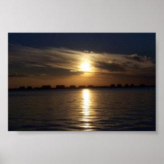 Sunset at Sarasota Bay Poster