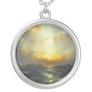 Sunset at Sea - 1906 Round Pendant Necklace