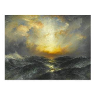 Sunset at Sea - 1906 Postcard