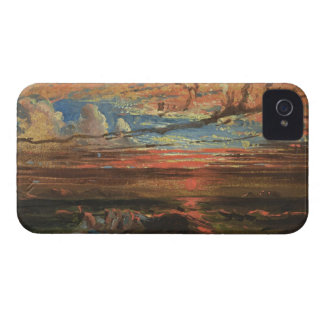 Sunset at Sea after a Storm (oil on pressed cardbo iPhone 4 Case-Mate Cases