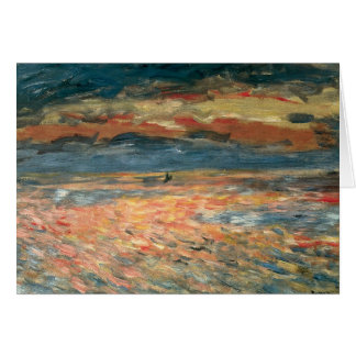 Sunset at Sea by Pierre Renoir, Vintage Fine Art Card