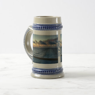 Sunset at Sea Custom Beer Stein