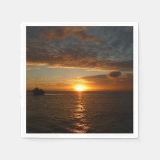 Sunset at Sea II Tropical Seascape Disposable Napkins