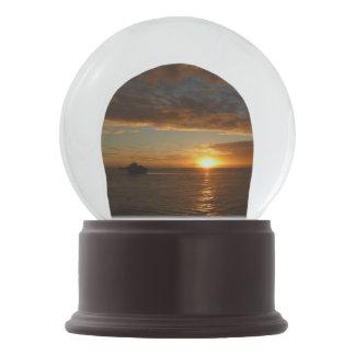 Sunset at Sea II Tropical Seascape Snow Globe
