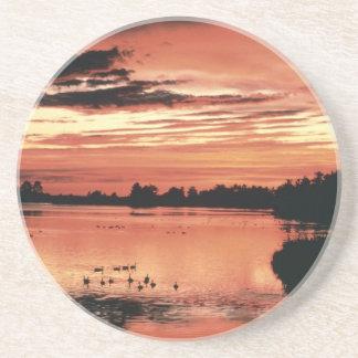 Sunset at Seney National Wildlife Refuge Coaster