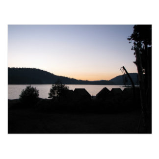 Sunset at Shaver Lake Postcard