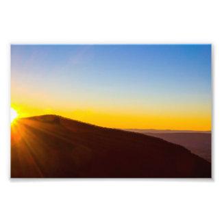 Sunset at Shenandoah National Park, Virginia Photo Print