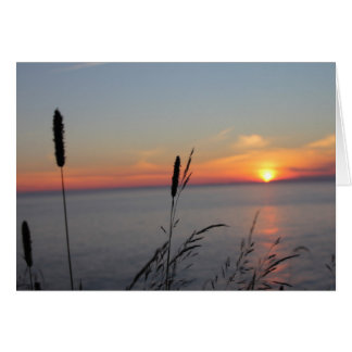 Sunset at Southwest Head, Grand Manan, NB Card