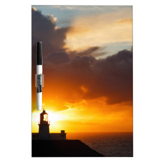 Sunset at Strumble Head Lighthouse Dry Erase Board