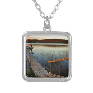 Sunset at the Bay Silver Plated Necklace