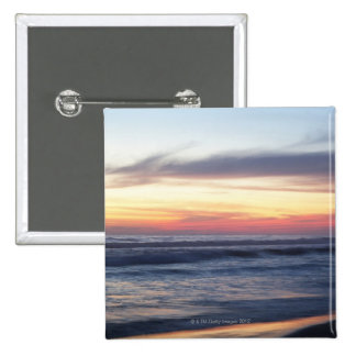 Sunset at the beach 15 cm square badge