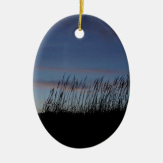 Sunset at the Beach Ceramic Oval Decoration