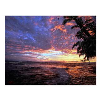 Sunset at the Beach...Postcard Postcard