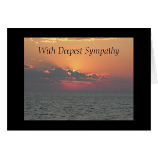 Sunset at the Beach With Deepest Sympathy Greeting Card