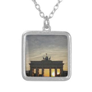 Sunset at the Brandenburg Gate, Berlin Necklaces