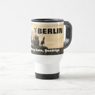 Sunset at the Brandenburg Gate, Berlin Travel Mug