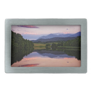 Sunset at the Caledonian Canal near Fort William Belt Buckle