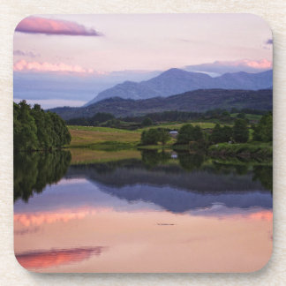 Sunset at the Caledonian Canal near Fort William Beverage Coaster