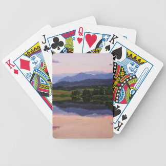 Sunset at the Caledonian Canal near Fort William Bicycle Playing Cards