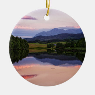 Sunset at the Caledonian Canal near Fort William Ceramic Ornament