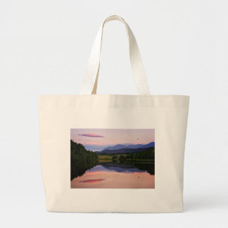 Sunset at the Caledonian Canal near Fort William Large Tote Bag