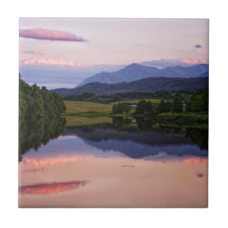 Sunset at the Caledonian Canal near Fort William Tile