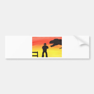 Sunset At The Dinosaur Ranch Bumper Sticker