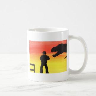 Sunset At The Dinosaur Ranch Coffee Mug