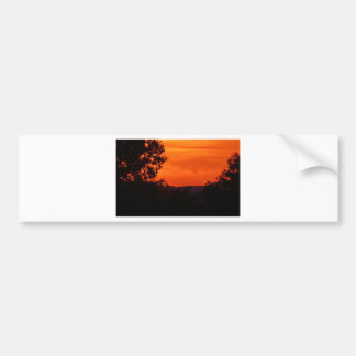 sunset at the edge of dark bumper sticker